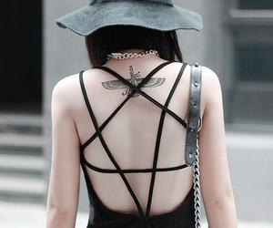 dress, pentagram, and grunge image