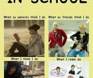 kpop, b.a.p, and school image