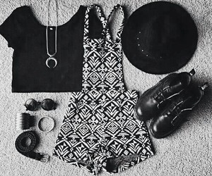 fashion, outfit, and black image