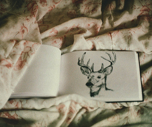 deer, vintage, and drawing image