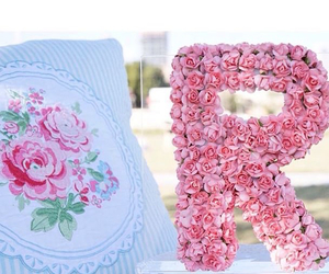 flowers, letters, and r image