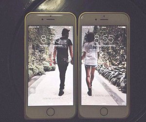 love, couple, and iphone image