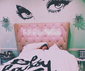 bedroom, feelings, and bed image