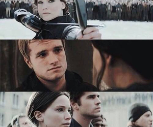 the hunger games, josh hutcherson, and liam hemsworth image