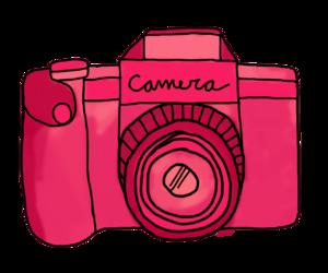camera, pink, and photo image