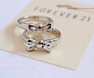 rings, bow, and forever 21 image