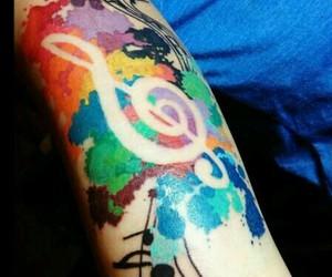 tattoo, music, and art image