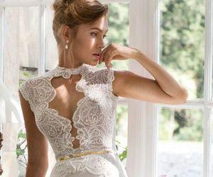 beautiful, dress, and bridal image