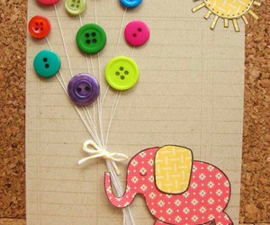 buttons, card, and diy image