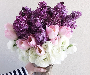 bouquet, delicate, and flowers image