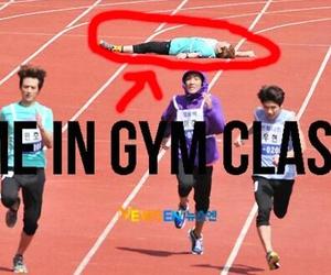 funny, gym, and me image
