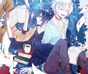 cafe, libros, and shion and nezumi image