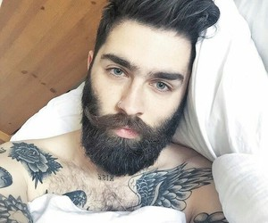 tattoo, beard, and man image