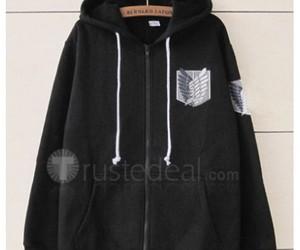 shingeki no kyojin, attack on titan, and cheap anime hoodie image