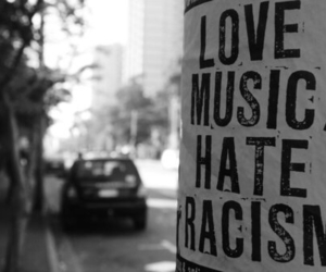 music, black and white, and hate image