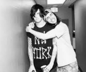pierce the veil, vic fuentes, and sleeping with sirens image