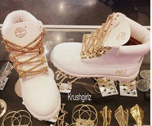 timberland, boots, and gold image