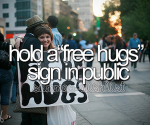 hug and bucket list image