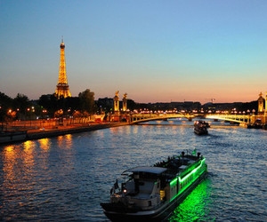 beautiful, boat, and eiffel tower image