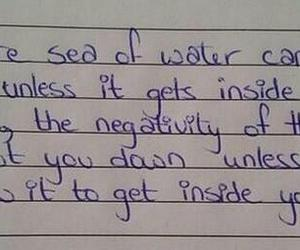 quote, negativity, and sea image