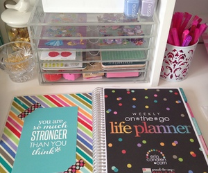 desk, gadget, and planner image