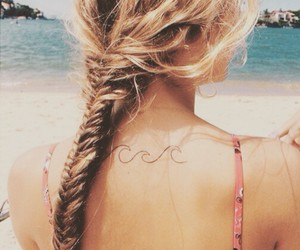 back, braid, and hair style image