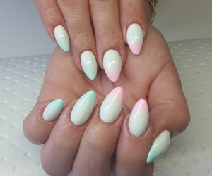 hybrid, nails, and ombre image
