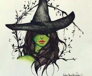 green, Oz, and witch image