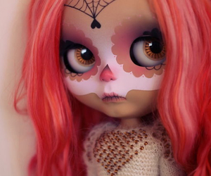 blythe, pink, and sugarskull image