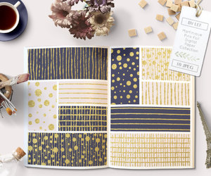 etsy, gold foil, and digital paper image