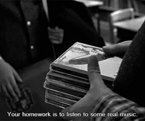 music, grunge, and homework image