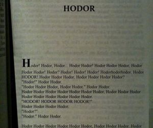 game of thrones and hodor image
