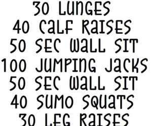 health, workout, and fit image