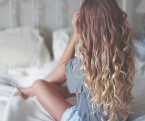 hair, blonde, and curly image