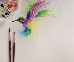 bird, paintbrush, and painting image