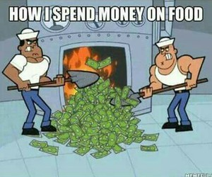 food, lol, and money image