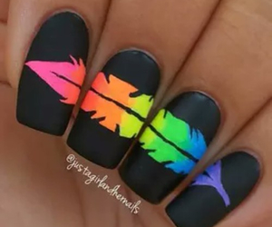 nails, black, and feather image