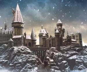 castle, christmas, and snow image
