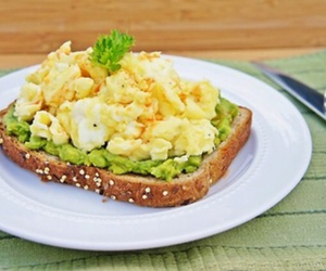 bread, breakfast, and eggs image