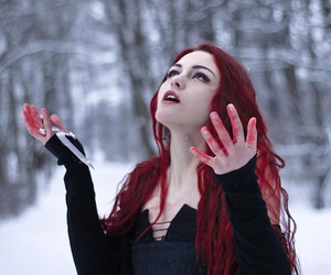 beauty, snow, and blood image