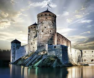 castle, finland, and savonlinna image