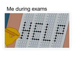 help, exam, and funny image