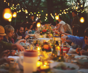 light, party, and family image