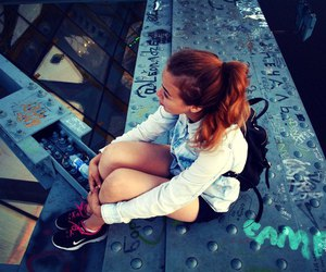 beautiful, bridge, and girl image