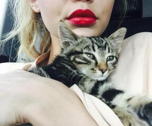 gigi hadid and cat image