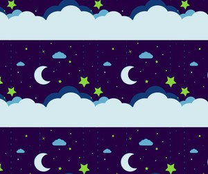 background, kawaii, and moon image
