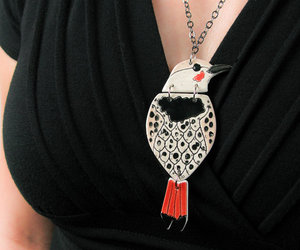 bird, necklace, and pottery image