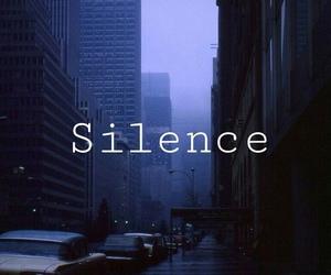 silence, dark, and blue image
