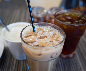 drink, coffee, and ice image