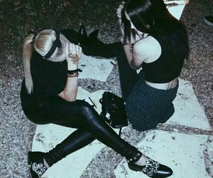 grunge, friends, and black image